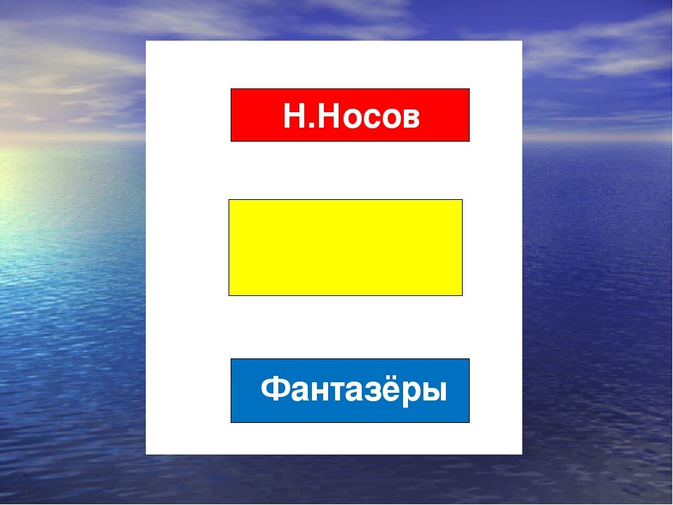 Н.Носов Фантазёры