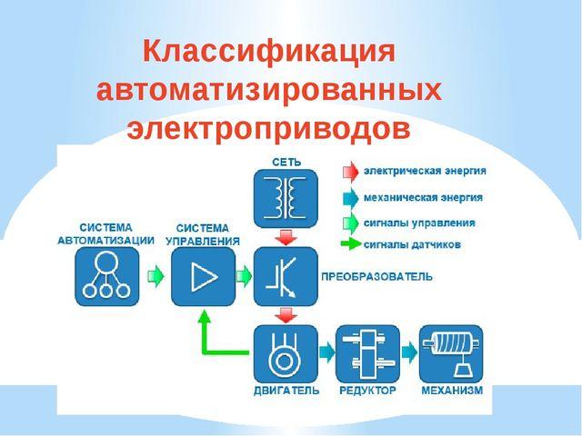 Классификация автоматизированных электроприводов