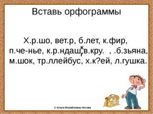 Вставь орфограммы Х.р.шо, вет.р, б.лет, к.фир, п.че-нье, к.р.ндаш,в.кру. , .б