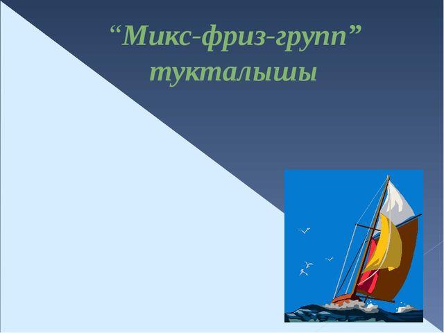 """""""Микс-фриз-групп"""" тукталышы"""