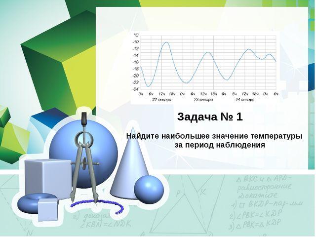 Задача № 1 Найдите наибольшее значение температуры за период наблюдения