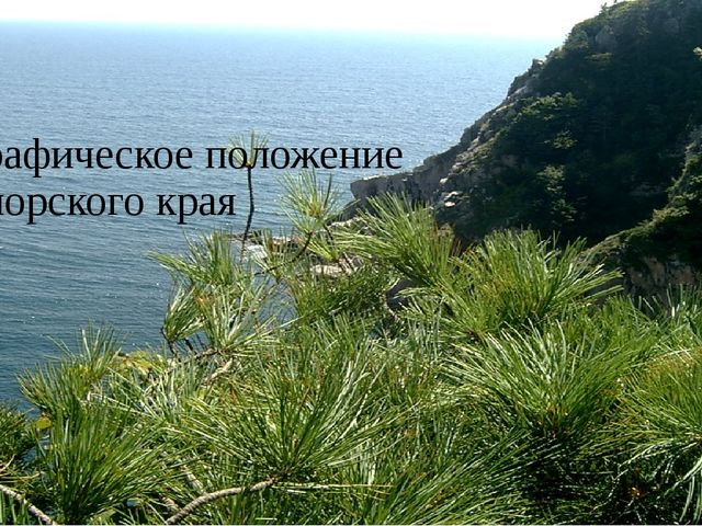 Географическое положение Приморского края