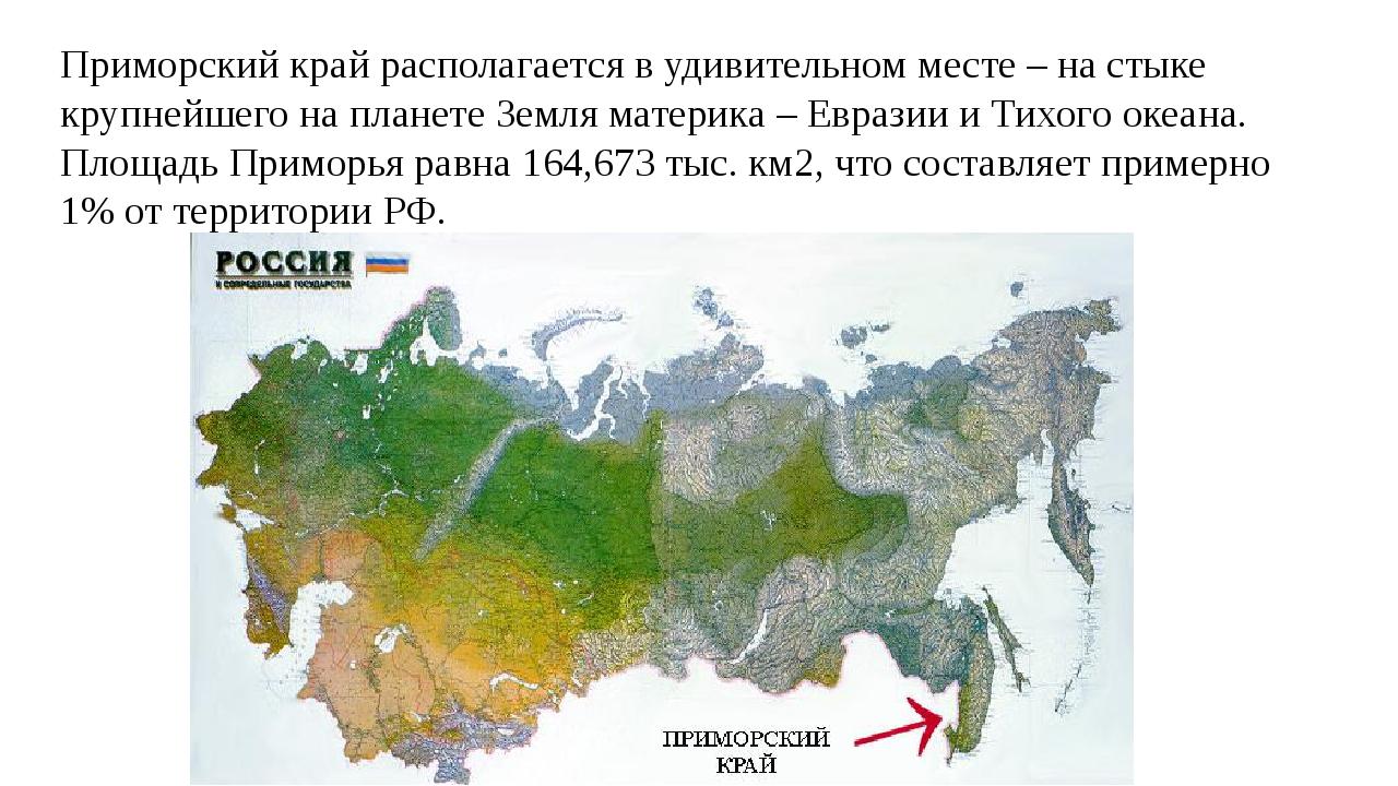Приморский край располагается в удивительном месте – на стыке крупнейшего на...