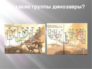 На какие группы динозавры?