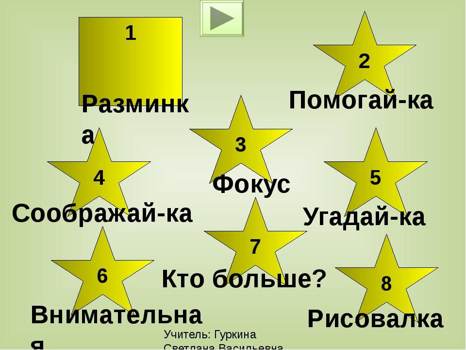 Учитель: Гуркина Светлана Васильевна Фокус