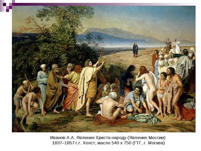 ИвановА.А. Явление Христа народу (Явление Мессии) 1837–1857г.г. Холст, масл...