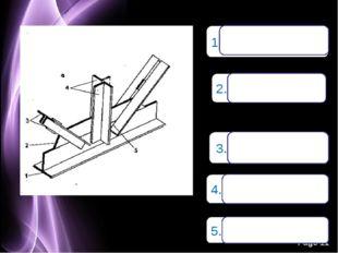 1.Нижний пояс 2.Косынка 3.Раскос (уголок) 4.Стойка 5.Раскос Page *