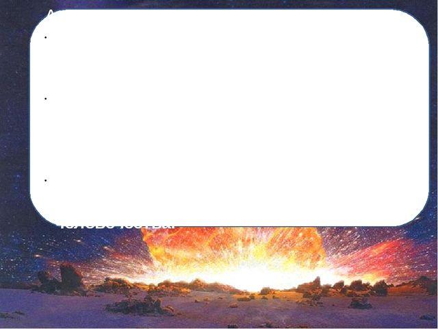 Актуальность темы Падение метеорита на Землю – самая страшная катастрофа для...
