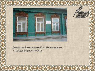 Дом-музей академика Е.Н. Павловского в городе Борисоглебске