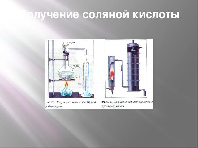 Получение соляной кислоты