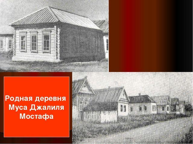 Родная деревня Муса Джалиля Мостафа