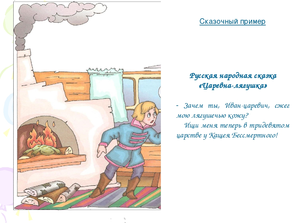 Сказочный пример Русская народная сказка «Царевна-лягушка» - Зачем ты, Иван-ц...