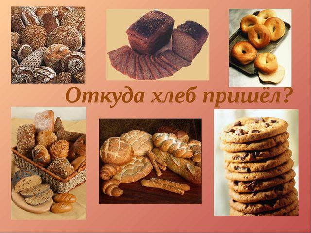 Откуда хлеб пришёл?
