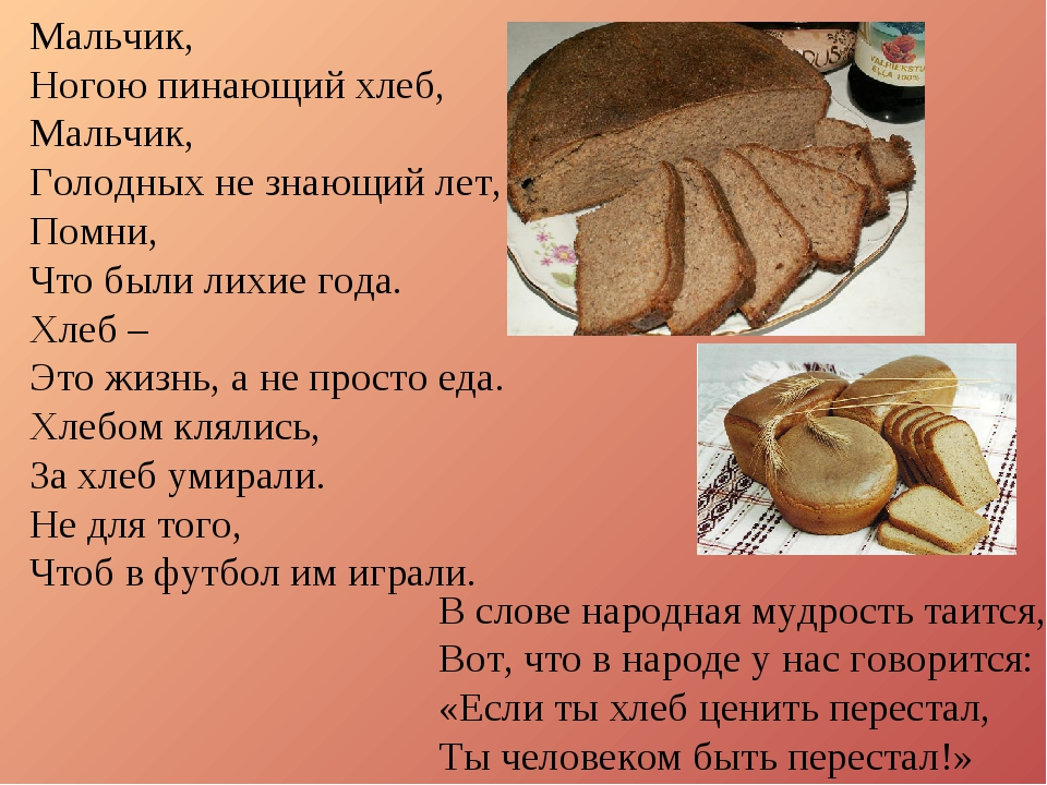 Мальчик, Ногою пинающий хлеб, Мальчик, Голодных не знающий лет, Помни, Что бы...