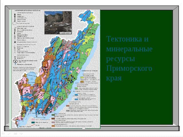 Тектоника и минеральные ресурсы Приморского края