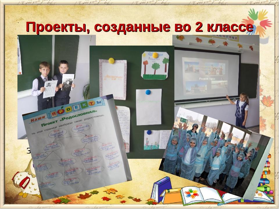 Проекты, созданные во 2 классе «Профессия моих родителей» Задача данного пр...