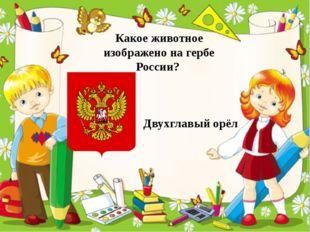 Какое животное изображено на гербе России? Двухглавый орёл