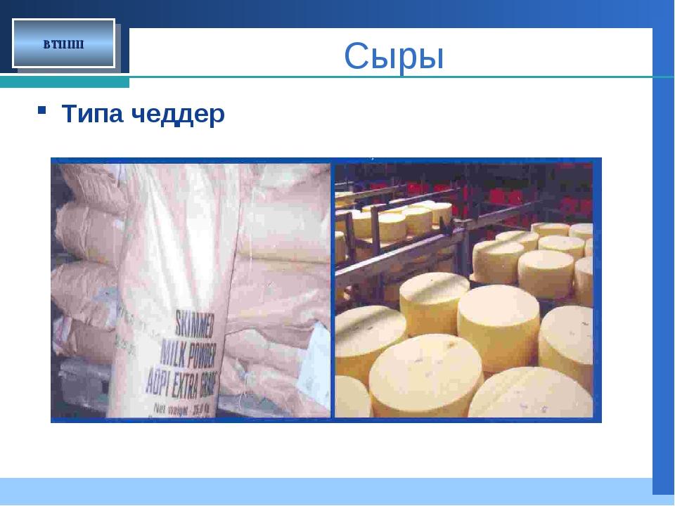 ВТППП Типа чеддер Сыры Company LOGO
