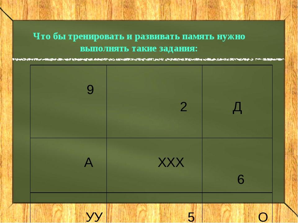 Что бы тренировать и развивать память нужно выполнять такие задания: 9 2  Д...