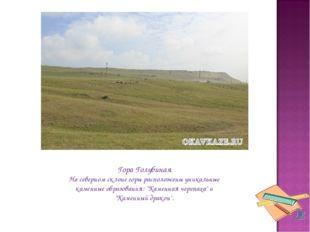 Гора Голубиная На северном склоне горы расположены уникальные каменные образо