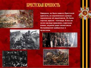 Наверное, не было камня в Брестской крепости, не окропленного кровью героичес