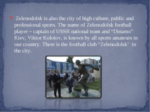 Zelenodolsk is also the city of high culture, public and professional sports