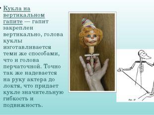Кукла на вертикальном гапите — гапит закреплен вертикально, голова куклы изго