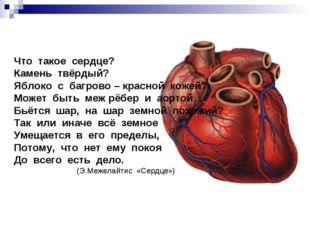 Что такое сердце? Камень твёрдый? Яблоко с багрово – красной кожей? Может быт