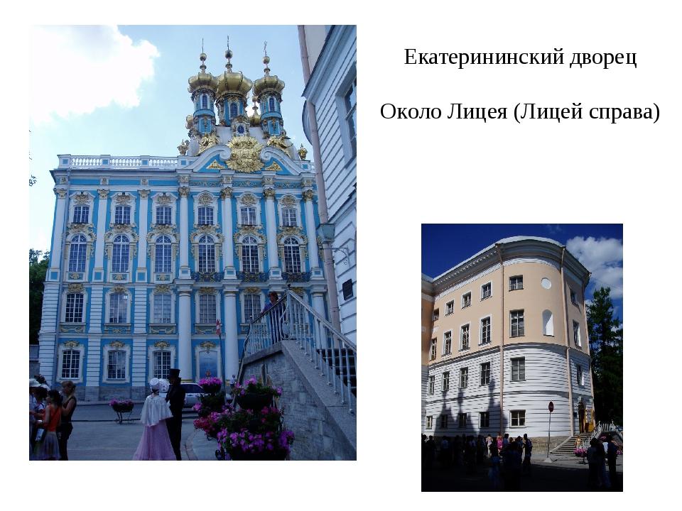 Екатерининский дворец Около Лицея (Лицей справа)