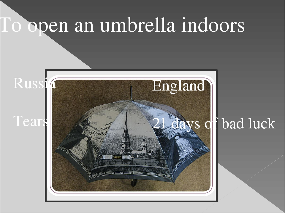 Russia Tears England 21 days of bad luck To open an umbrella indoors