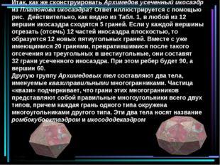 Итак, как же сконструировать Архимедов усеченный икосаэдр из Платонова икосаэ