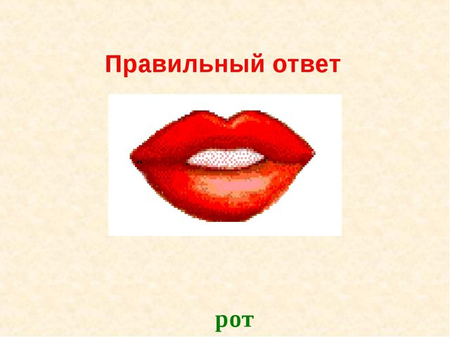 Правильный ответ рот