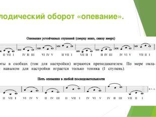 Мелодический оборот «опевание».