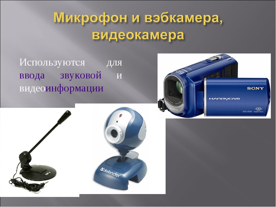 Используются для ввода звуковой и видеоинформации