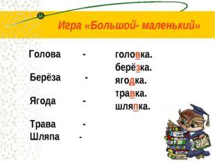 Голова - Берёза - Ягода - Трава - Шляпа - головка. берёзка. ягодка. травка.