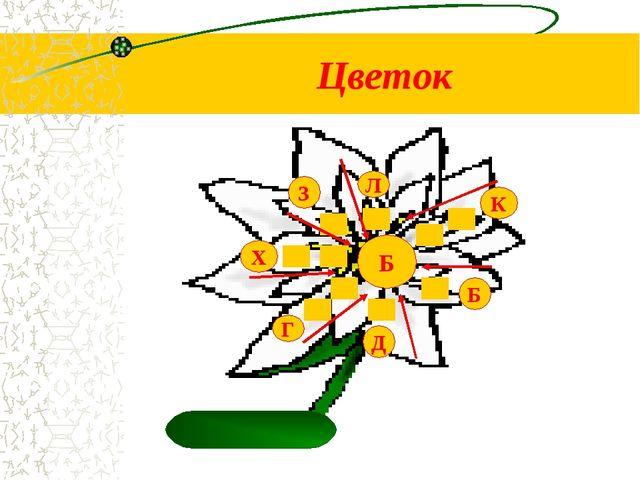Цветок Д Б К Л З Х Г Б