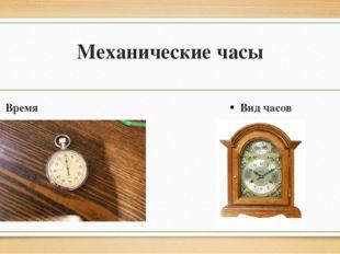 Механические часы Время Вид часов