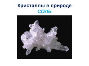 Кристаллы в природе СОЛЬ