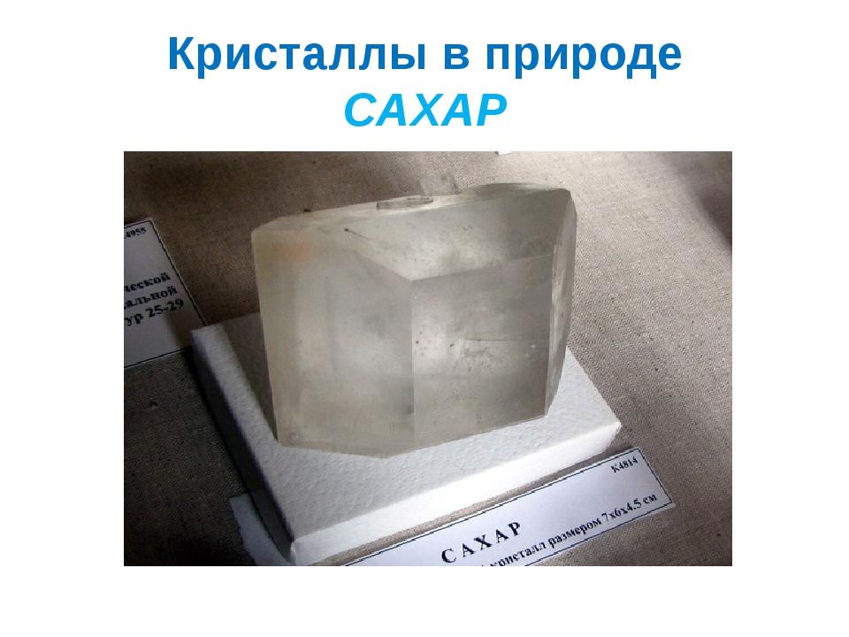 Кристаллы в природе САХАР