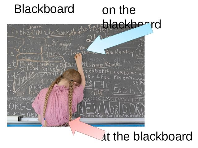 Blackboard on the blackboard at the blackboard