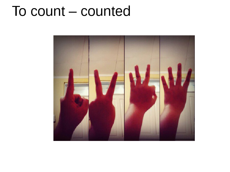 To count – counted