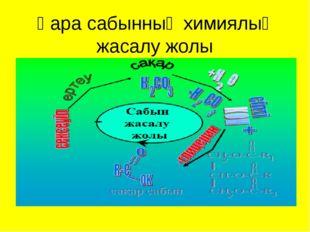 Қара сабынның химиялық жасалу жолы