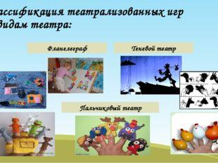 Классификация театрализованных игр по видам театра: Фланелеграф Теневой театр