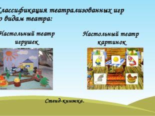 Классификация театрализованных игр по видам театра: Настольный театр игрушек