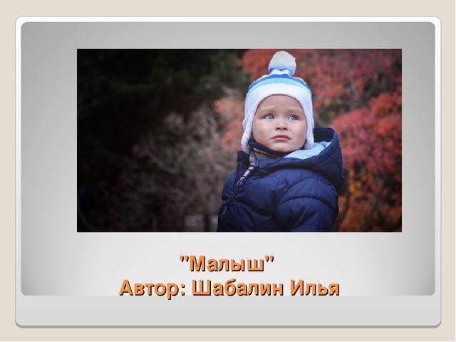 """""""Малыш"""" Автор: Шабалин Илья"""