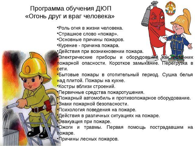 Роль огня в жизни человека. Страшное слово «пожар». Основные причины пожаров....