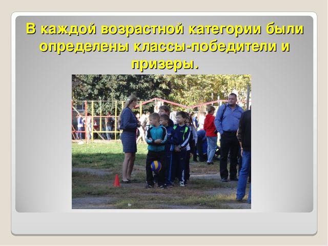 В каждой возрастной категории были определены классы-победители и призеры.