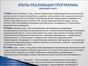 I этап (май-сентябрь). Сбор и анализ информации (информационно-аналитическа