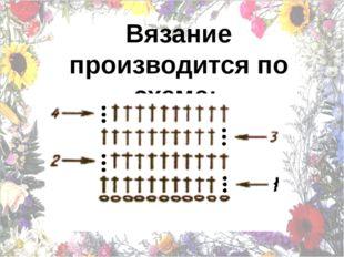Вязание производится по схеме: