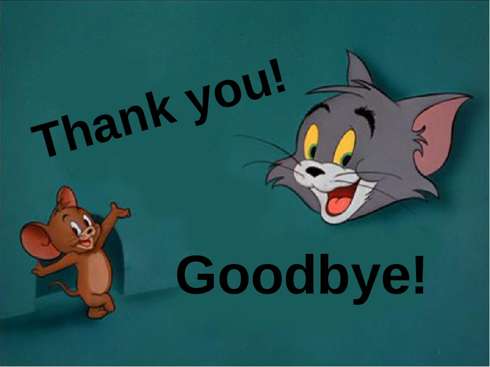 Thank you! Goodbye!